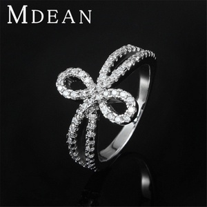 Slyq Jewelry Knot of Ring Platinum Filled Gothic jewelry luxury finger bague 8 shape accessories
