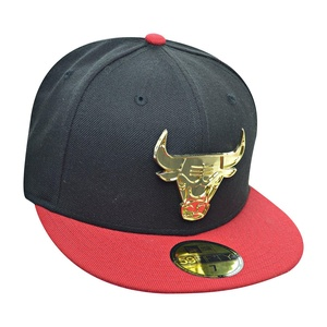 New Era Chicago Bulls 59Fifty Men's Fitted Hat Cap Black/Red/Gold 70360967 (Size 7 1/8)