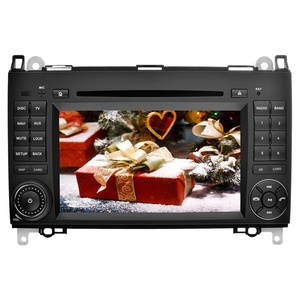 YINUO 7 inch Android 5.1.1 Lollipop Quad Core Car Stereo 2 Din HD 1024600 Capacitive Touch Screen Car Radio Receiver DVD GPS Navigation for Mercedes-Benz, External Mic+8GB Map Card
