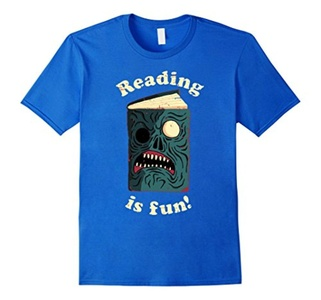 Men's Reading Is Fun T-Shirt Large Royal Blue