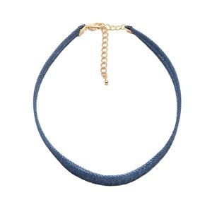 ChelseachicNYC Denim Blue Jean Choker Necklace