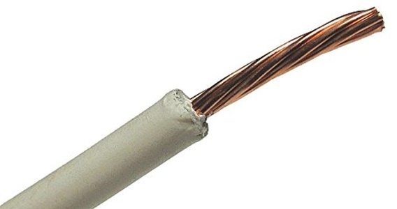 General Cable - 12411.711109B06 - Photovoltaic Wire, 500 ft., 10 AWG, White, Tinned Coated Compressed Copper, Max. Voltage 600