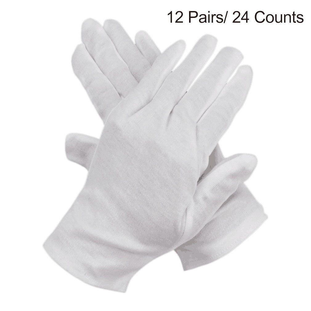 Black cotton gloves for eczema - Ilovecos Cotton Gloves For Eczema White Coin Jewelry Inspection Lisle Gloves 12 Pairs 24 Gloves