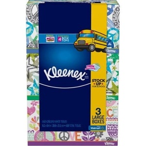 Kleenex, 2-ply Facial Tissues, 630 Sheets (Pack of 3) Now Thicker, More Absorbent with Sneeze Shield by Kleenex