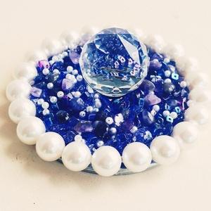 Wine Glass Topper Purple & Pearls (Style 1)
