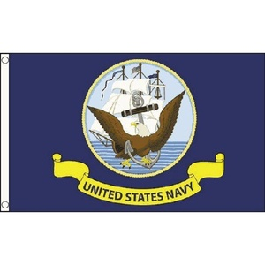 Us Navy Flag 5Ft X 3Ft Usa America American Naval Banner With 2 Metal Eyelets by US Navy