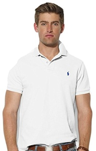 Polo Ralph Lauren Custom Fit Men Polo Shirt white M