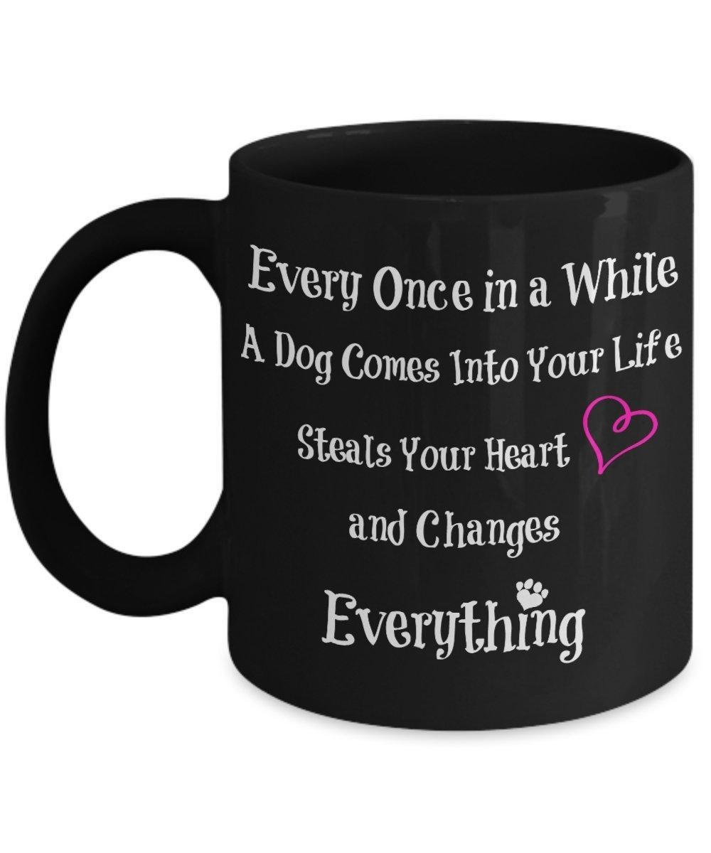 Online Store Pink Heart Black Mug Every Once In A While Special Dog Comes Into Your Life Unique Birthday Gift For Lovers Great Present Idea