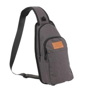 ALLCAMP Sling Bag Chest Shoulder Unbalance Gym Fanny Backpack Sack Satchel Outdoor Bike nylon fabric multicolored (black)