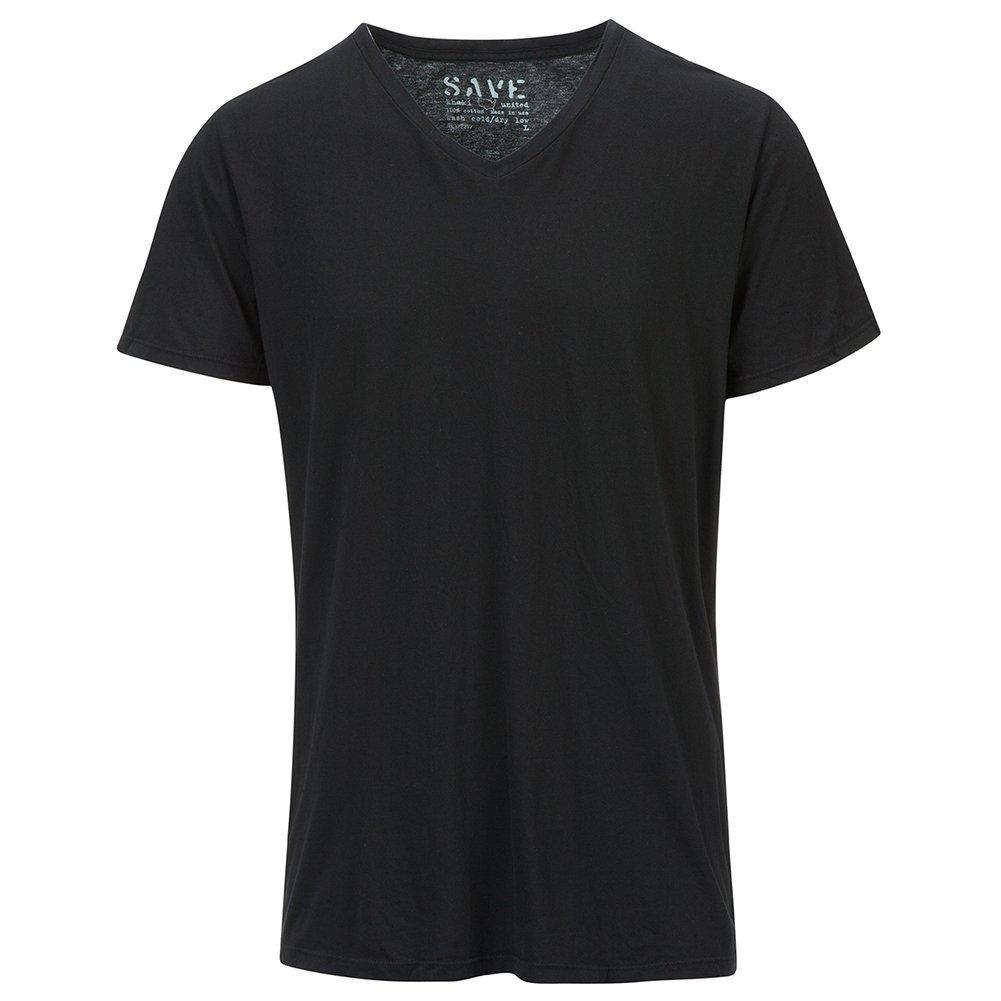 Save Khaki Men's S/S V-neck Tee SK002-2 Black SZ M