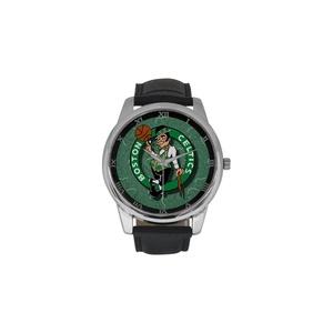 Boston Celtics Basketball DBLN384 Men Wrist Watches Leather Strap Large Dial Watch