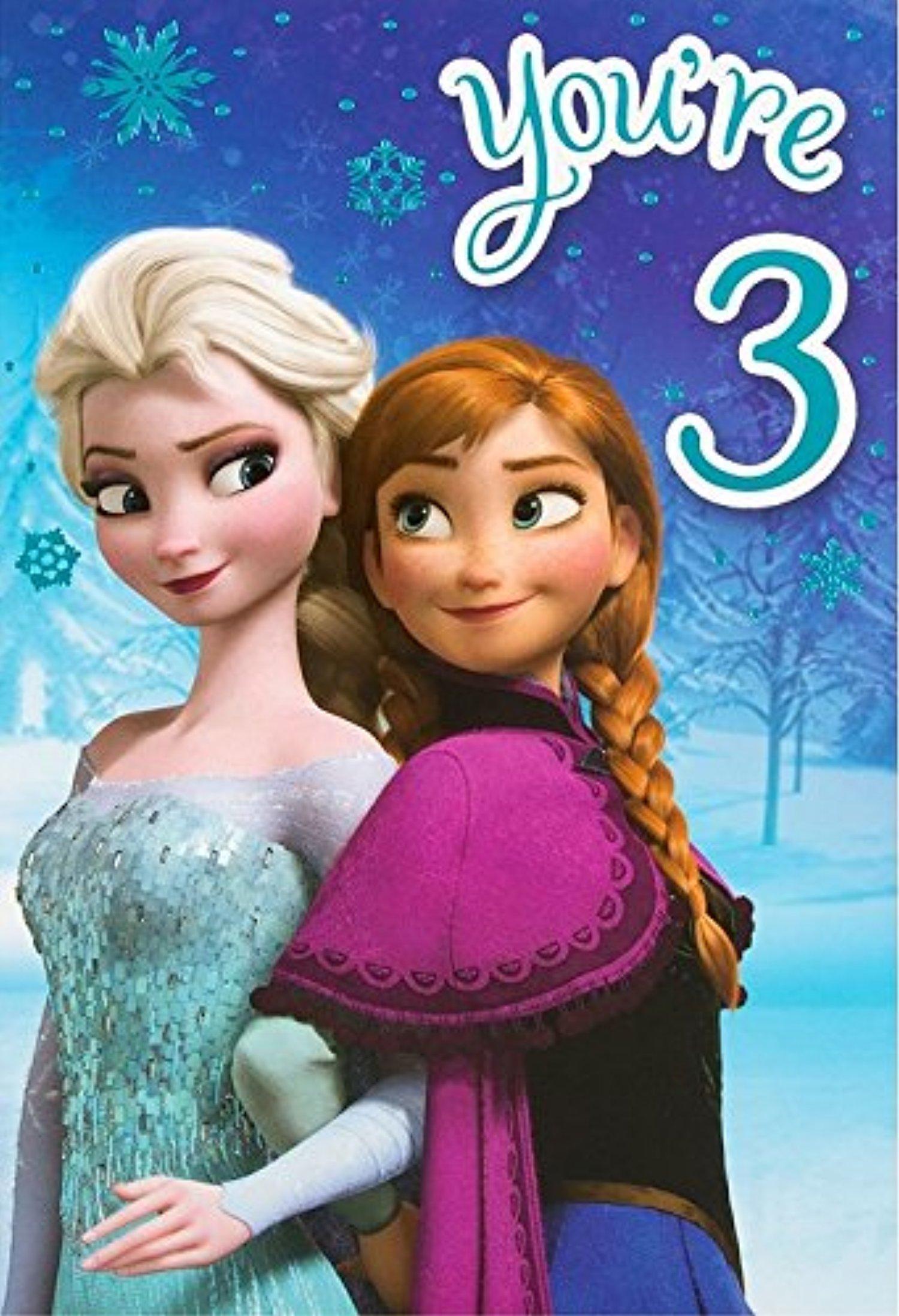 line Store Disney Frozen 3rd Birthday Card