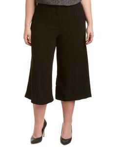 Melissa Mccarthy Womens Melissa Mccarthy Seven7 Cropped Gaucho Pant, 22, Black