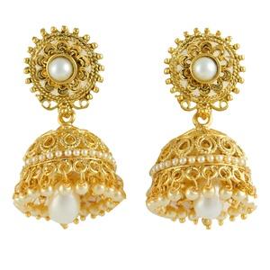 Women Goldplated Jhumka Jhumki Drop Dangle Traditional Earrings Fashion Jewelry