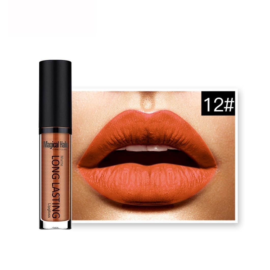 Lipstick,BeautyVan Beautiful Women Fashion Waterproof Matte Liquid Lipstick Long Lasting Lip Gloss Lipstick (L)