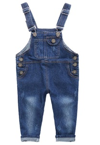 BABGELY Kids Boys Girls Casual Button Denim Overall Bib Jeans Pants