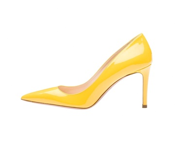 Guoar Women's Stiletto Big Size Shoes Pointed Toe Ladies High Heel Pumps for Work Prom Dress Party Yellow US8