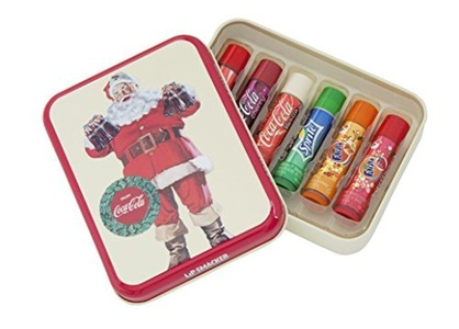 Lip Smacker? Coca-ColaTM Gift Tin Box with 6 Lip Balms in Original Flavours Coca-Cola ClassicTM Coca-Cola VanillaTM Fanta OrangeTM Fanta PineappleTM Fanta StrawberryTM and SpriteTM by Lip Smacker