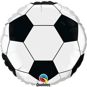 Qualatex Black & White Football/Soccer Ball 9 Inch Air Fill Mini Foil Balloons x 2 by Sports & National Themed Balloons