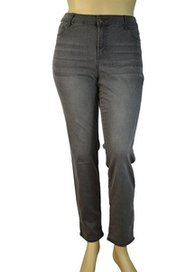 Alfa Global Women's Plus Size Skinny Stretch Denim Washed Pants (24, 107HeatherGrey)