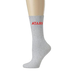 Atari Logo Men's Crew Soccer Socks Ash One Size