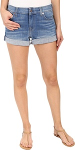 7 For All Mankind Women's Roll Up Shorts in