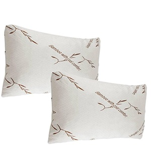 2 Pack Bamboo Memory Foam Pillows Queen Size Hypoallergenic New Improved Version