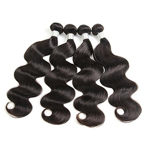 MSJ Hair 6A Brazilian Remy Human Hair Body Wave Hair Extensions Weft PCs Bundles (22 22 24 24)