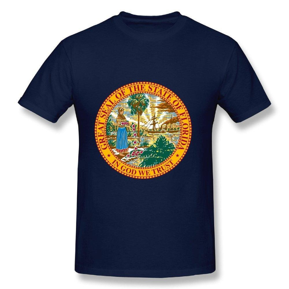 HM Men's T Shirt Flag USA Florida State Size XL Navy