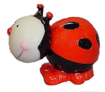 Bobble Head Ladybug Piggy Bank by Blowfish