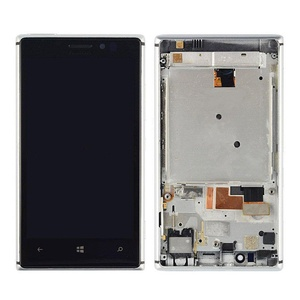 NEW Nokia Lumia 925 LCD Display Touch Screen Digitizer Assembly Silver Frame
