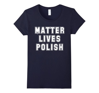 Women's Matter Lives Polish T Shirt Large Navy