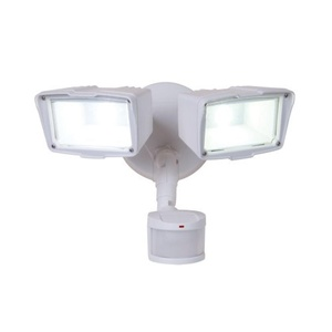 All-Pro MST18920LW, 180??Motion Activated Twin Head LED Floodlight, White by All Pro Outdoor Security