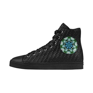 Shoes No.1 Sneakers Fitness Woven Women's Shoes PU Leather Fractal:Frost Covered Roses For Outdoor