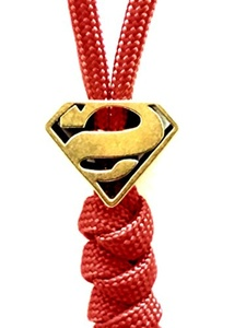 Just Listed Brass Superman Lanyard Bead (Includes 1 Bead)