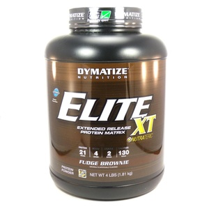 Bundle - 2 Items : 1 Elite XT Fudge Brownie by Dymatize - 4 Pounds and 1 VDC Shaker Cup