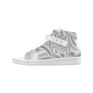 Shoes No.1 Women's Sneakers Lyra Round Toe High-top Shoes Silver Shimmering Rose Spiral For Outdoor