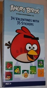 34 Angry Bird Valentines with 35 Stickers by Angry Bird 34 Valentines