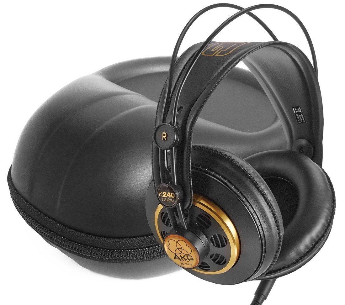 FitSand (TM) Storage Zipper Travel Carry EVA Hard Case Bag Pouch Box Cover for AKG K 240 Semi-Open Studio Headphones