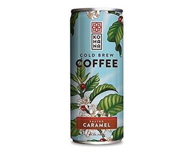 Kohana Coffee Cold Brew Coffee, Salted Caramel, 8 Ounce (Pack of 12) by Kohana Coffee