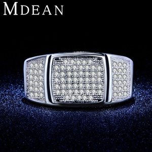 Slyq Jewelry Micro Pave women wedding Engagement Ring White gold plated jewelry CZ jewelry Bague Ring MSR374