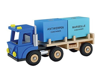 New Classic Toys ref 0910 Lorry Toy with 2 Containers by New Classic Toys