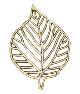 Gold Metal Leaf-shaped Trivet