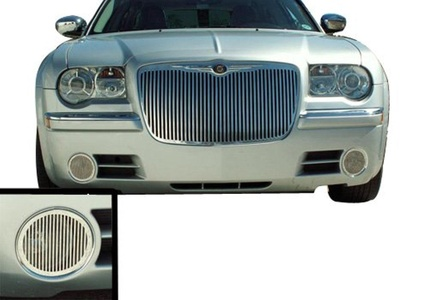 American Car Craft Chrysler 300 Stainless Billet Style Fog Light Grilles - 302001