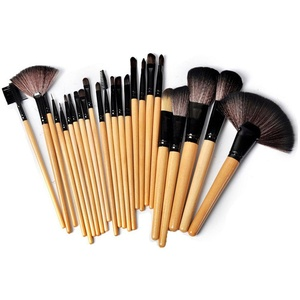Amazleer 24pcs Makeup Brush Set Professional Cosmetic Brushes Set Kit with Black Pouch Bag Case (Black)