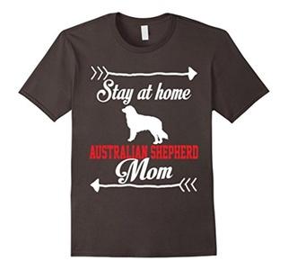 Men's Stay At Home Australian Shepherd Mom T-Shirt Large Asphalt