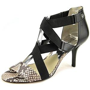 Michael Michael Kors Wendy Mid Women US 8 Black Sandals