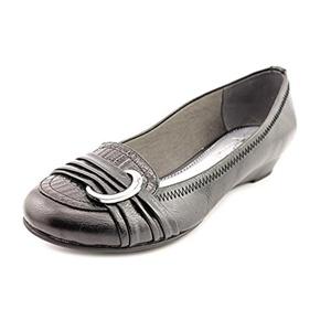 Life Stride Mindy Women Open Toe Synthetic Black Wedge Sandal