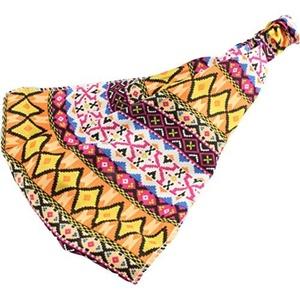 Headwrap Head Wrap Headband Hippy Tribal Bedouin Stretch Elasticated Boho Head Pink Pattern by Cherry-on-Top