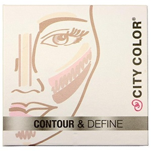 1pc City Color Contour & Define - Contour, Bronzer, Blush, Highlight #F0038 by city color